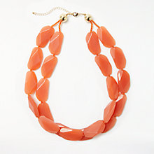 Buy John Lewis Dual Layered Beaded Necklace, Orange Online at johnlewis.com