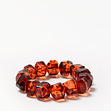 Buy John Lewis Beaded Bracelet, Amber Online at johnlewis.com