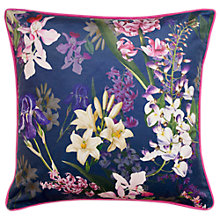 Buy Ted Baker Botanical Floral Cushion, Blue Online at johnlewis.com
