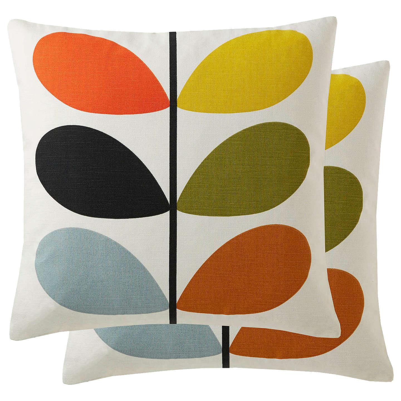 Orla Kiely Linear Stem Cushion Multi At Johnlewis Com