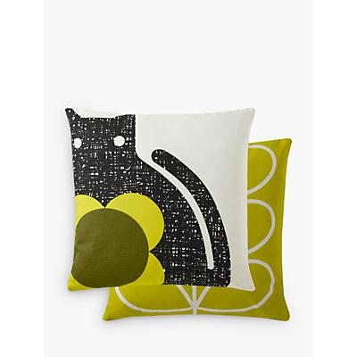 Orla Kiely Poppy Cat Cushion, Apple