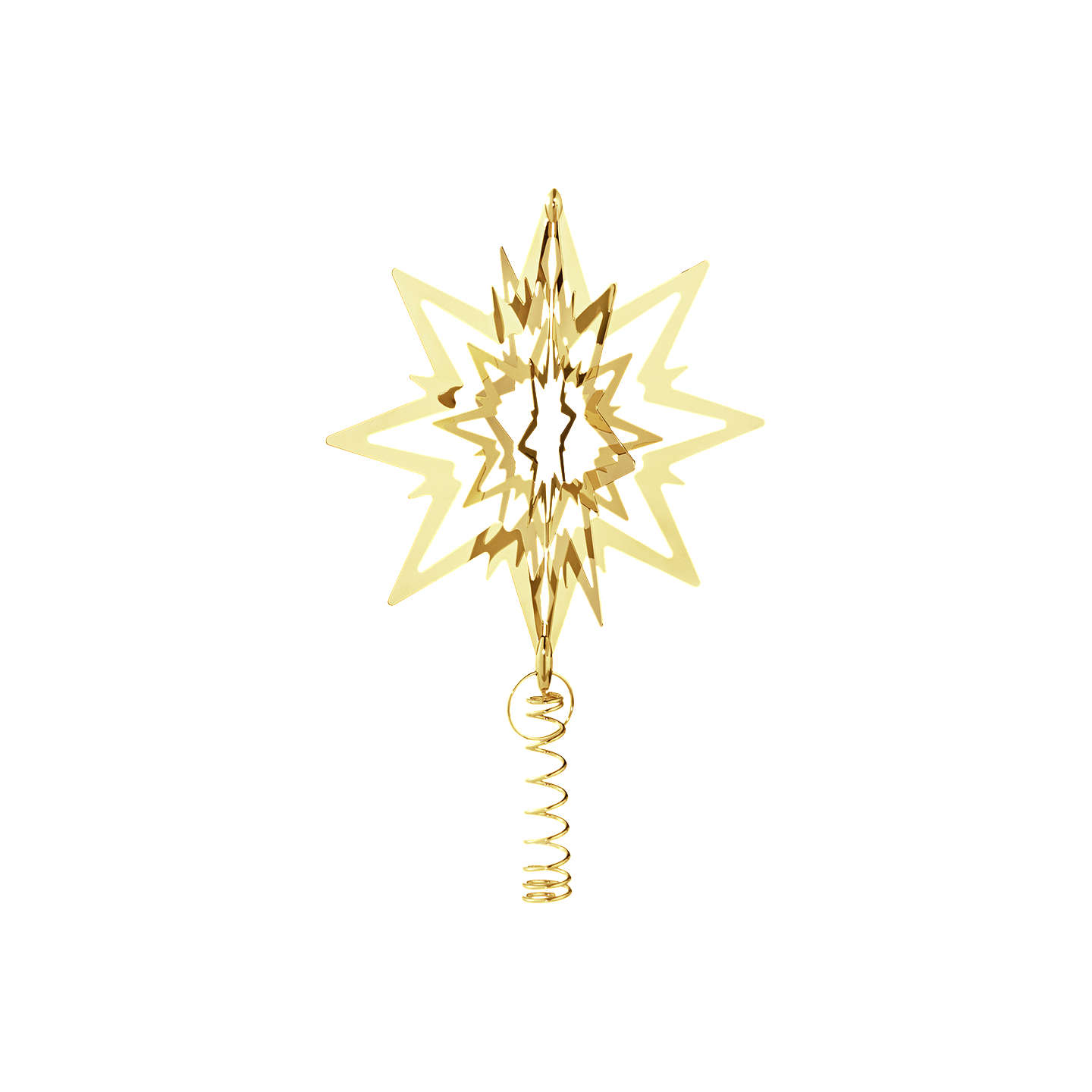 Buygeorg Jensen Top Star Tree Topper, Medium, Gold Online At