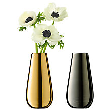 Buy LSA International Flower Metallic Bud Vase Duo, Gold / Platinum Online at johnlewis.com