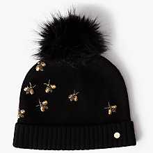 Buy Ted Baker Arlea Bee Embellished Hat, Black Online at johnlewis.com