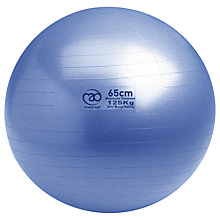 Buy Yoga-Mad Swiss Fitness Ball and Pump, Blue Online at johnlewis.com