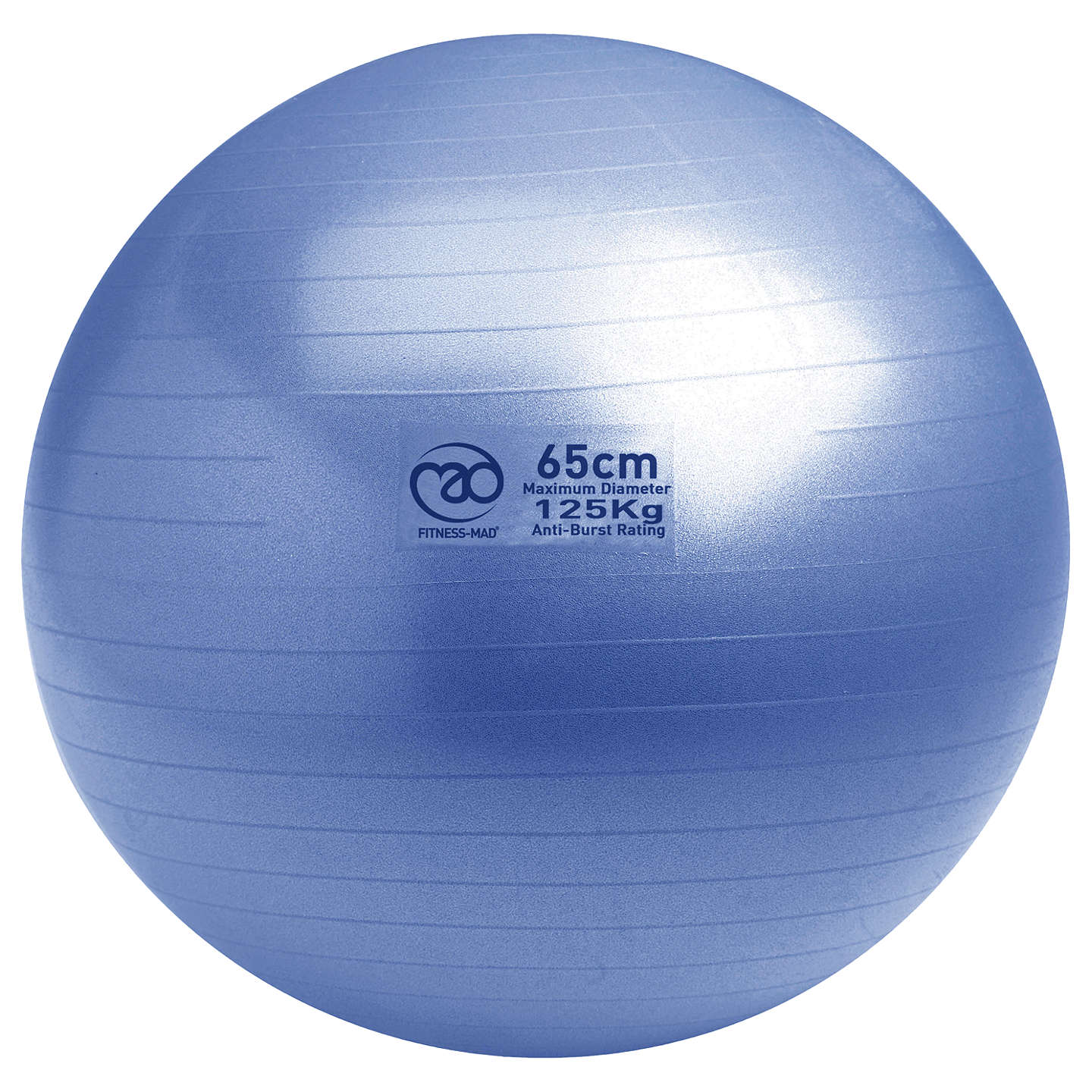 Yoga-Mad Swiss Fitness Ball and Pump, Blue at John Lewis