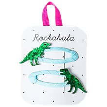 Buy Rockahula Glitter T-Rex Dinosaur Hair Clip, Pack of 2, Green/Blue Online at johnlewis.com