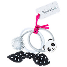 Buy Rockahula Children's Panda Hair Ponies, Pack of 3, Silver/White Online at johnlewis.com