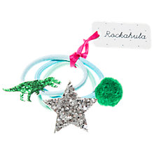 Buy Rockahula Children's T-Rex Dinosaur Hair Ponies, Pack of 3, Green/Blue Online at johnlewis.com