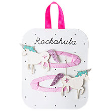 Buy Rockahula Glitter Unicorn Hair Clip, Pack of 2, Pink/White Online at johnlewis.com