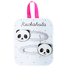 Buy Rockahula Glitter Panda Hair Clip, Pack of 3, Silver Online at johnlewis.com
