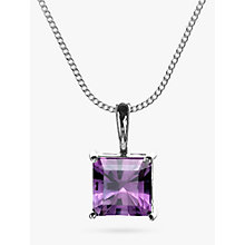 Buy Nina B 9ct White Gold Square Pendant Necklace Online at johnlewis.com