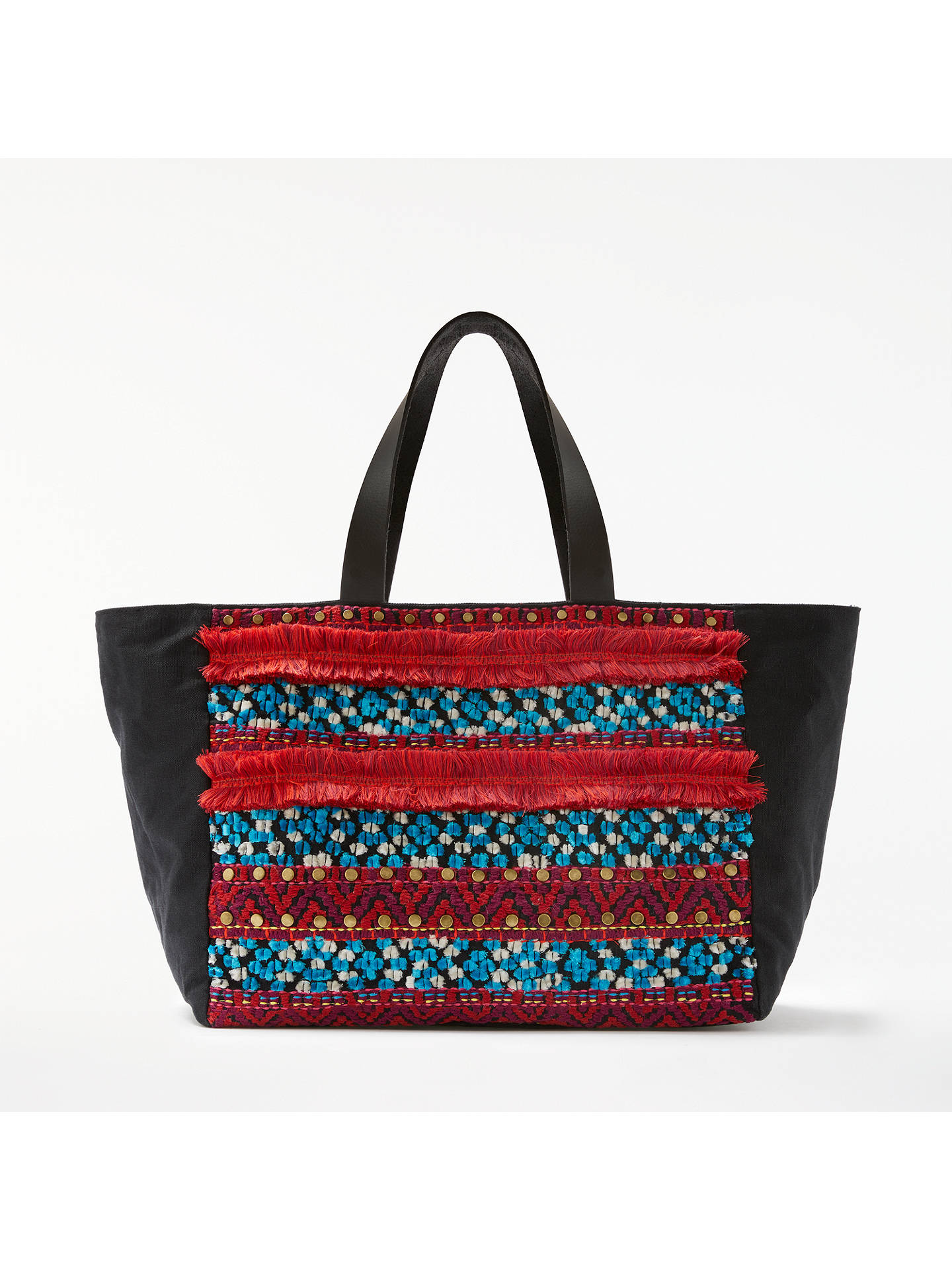 AND/OR Atala Embellished East/West Tote Bag, Multi at John Lewis ...