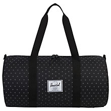 Buy Herschel Supply Co. Sutton Duffle Bag, Black Gridlock Online at johnlewis.com