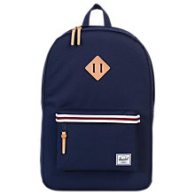 Buy Herschel Supply Co. Offset Heritage Backpack, Peacoat Online at johnlewis.com