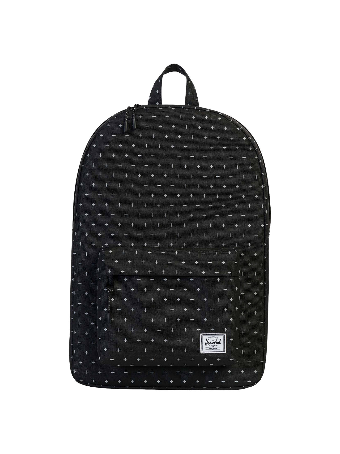Herschel Supply Co. Classic Backpack, Black Gridlock at John Lewis ... 72ae1c64a7