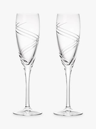 John Lewis & Partners Celestial Flutes, 160ml, Clear, Set of 2