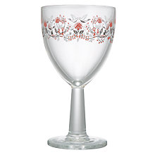 Buy John Lewis Folklore Wine Glass, Clear/Red, 360ml Online at johnlewis.com