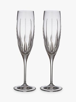 John Lewis & Partners Glacier Champagne Flutes, Clear, 190ml, Set of 2