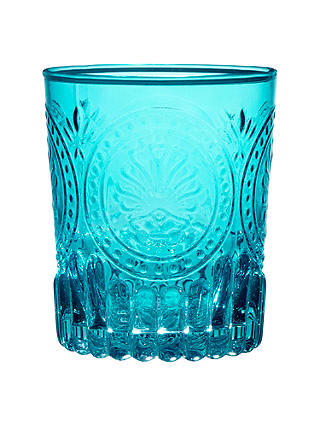 Buy John Lewis & Partners Chateau Glass Tumbler, 350ml, Turquoise Online at johnlewis.com