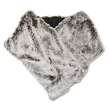 Buy John Lewis Luxury Faux Fur Large Wrap, Silver Grey Online at johnlewis.com