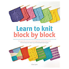 Buy Search Press Learn To Knit Block by Block Book by Che Lam Online at johnlewis.com