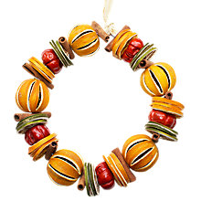 Buy Jormaepourri Orange Circlet Decoration Online at johnlewis.com