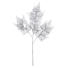 Buy John Lewis Winter Palace Asparagus Fern Spray, Silver Online at johnlewis.com