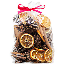Buy Jormaepourri Pine Cone and Orange Bag, Large Online at johnlewis.com
