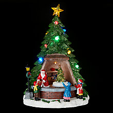 Buy John Lewis Santas Tree Shop LED Table Centre Online at johnlewis.com