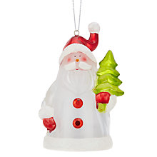 Buy John Lewis Morphing Mini Santa LED Christmas Light Online at johnlewis.com
