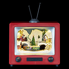Buy John Lewis LED Christmas TV Scene Online at johnlewis.com
