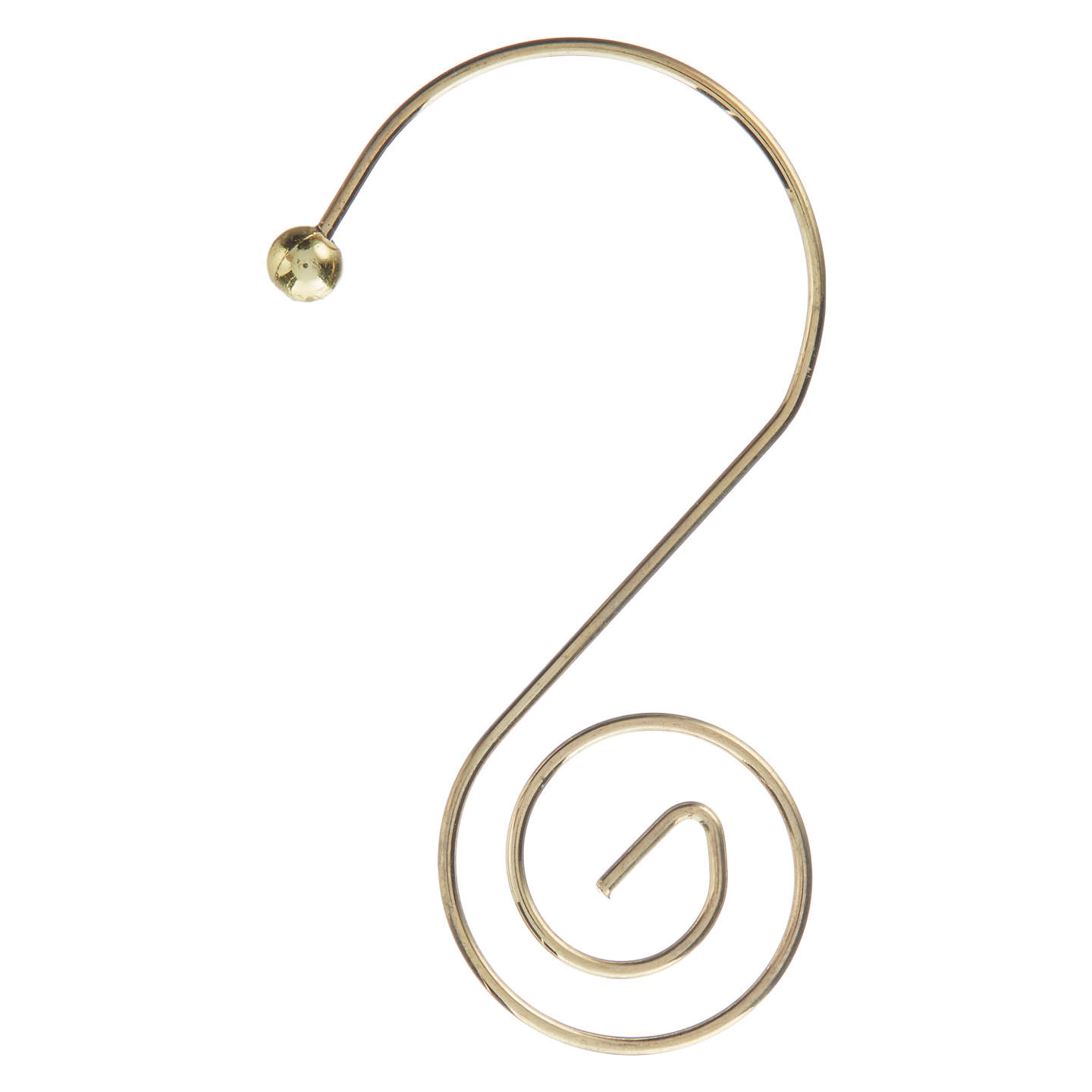 Buyjohn Lewis Christmas Tree Bauble Hooks, Pack Of 12, Gold