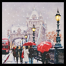 Buy John Lewis Snowy Tower Bridge LED Lit Canvas Online at johnlewis.com