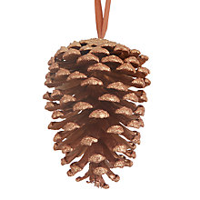 Buy John Lewis Highland Myths Pine Cone Tree Decoration, Bronze Online at johnlewis.com