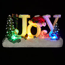 Buy John Lewis LED Joy Christmas Ornament Online at johnlewis.com