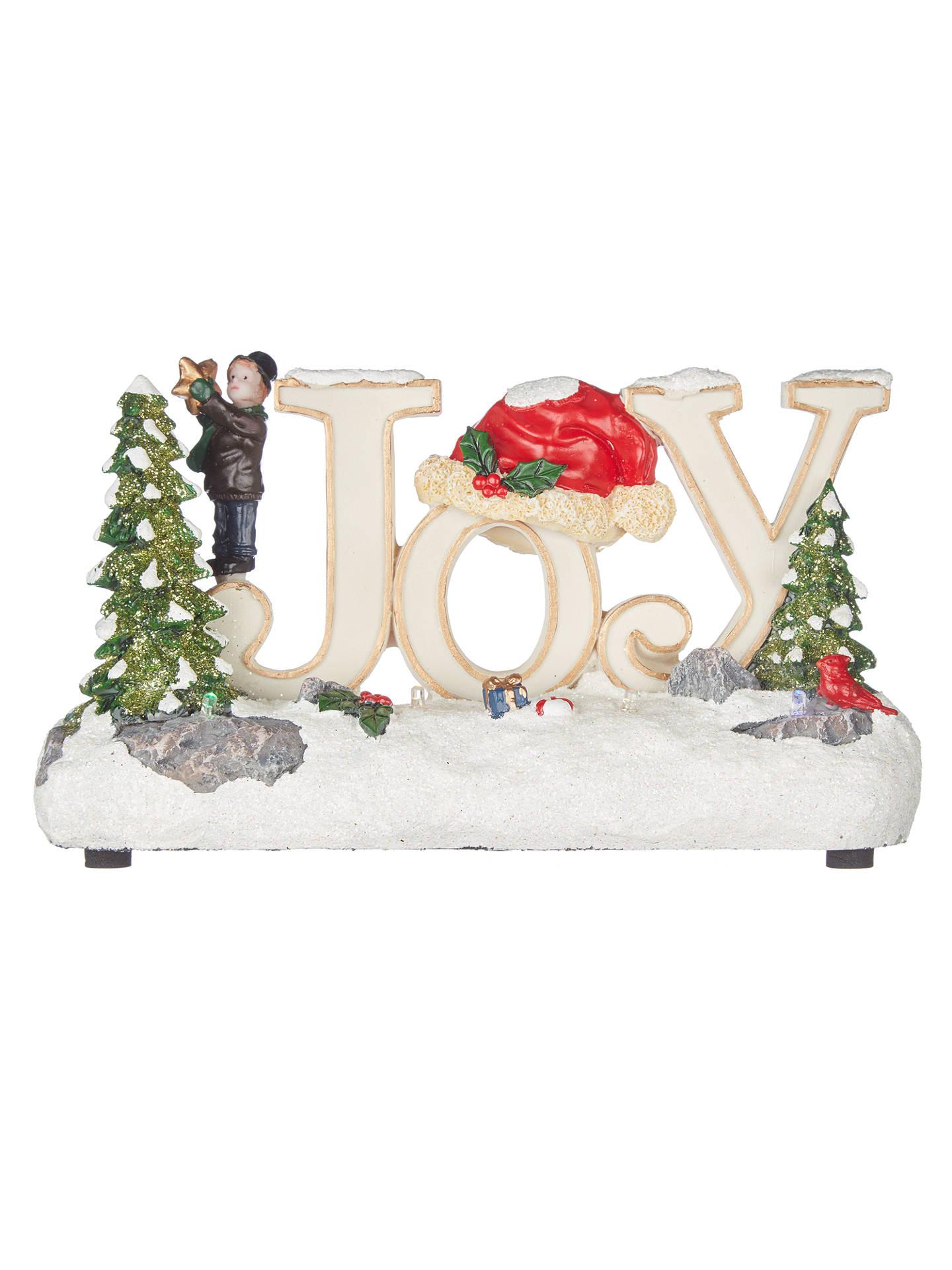 John Lewis LED Joy Christmas Ornament at John Lewis & Partners