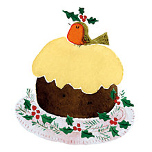 Buy Museums and Galleries Christmas Pudding Charity Christmas Cards, Pack of 8 Online at johnlewis.com