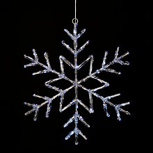 Buy John Lewis LED Hanging Christmas Snowflake Online at johnlewis.com