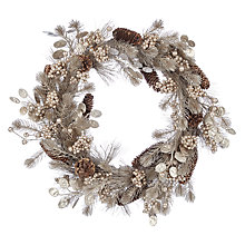 Buy John Lewis Winter Palace Champagne Pinecone Wreath Online at johnlewis.com