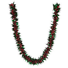Buy John Lewis Holly Leaf Tinsel, L2m Online at johnlewis.com