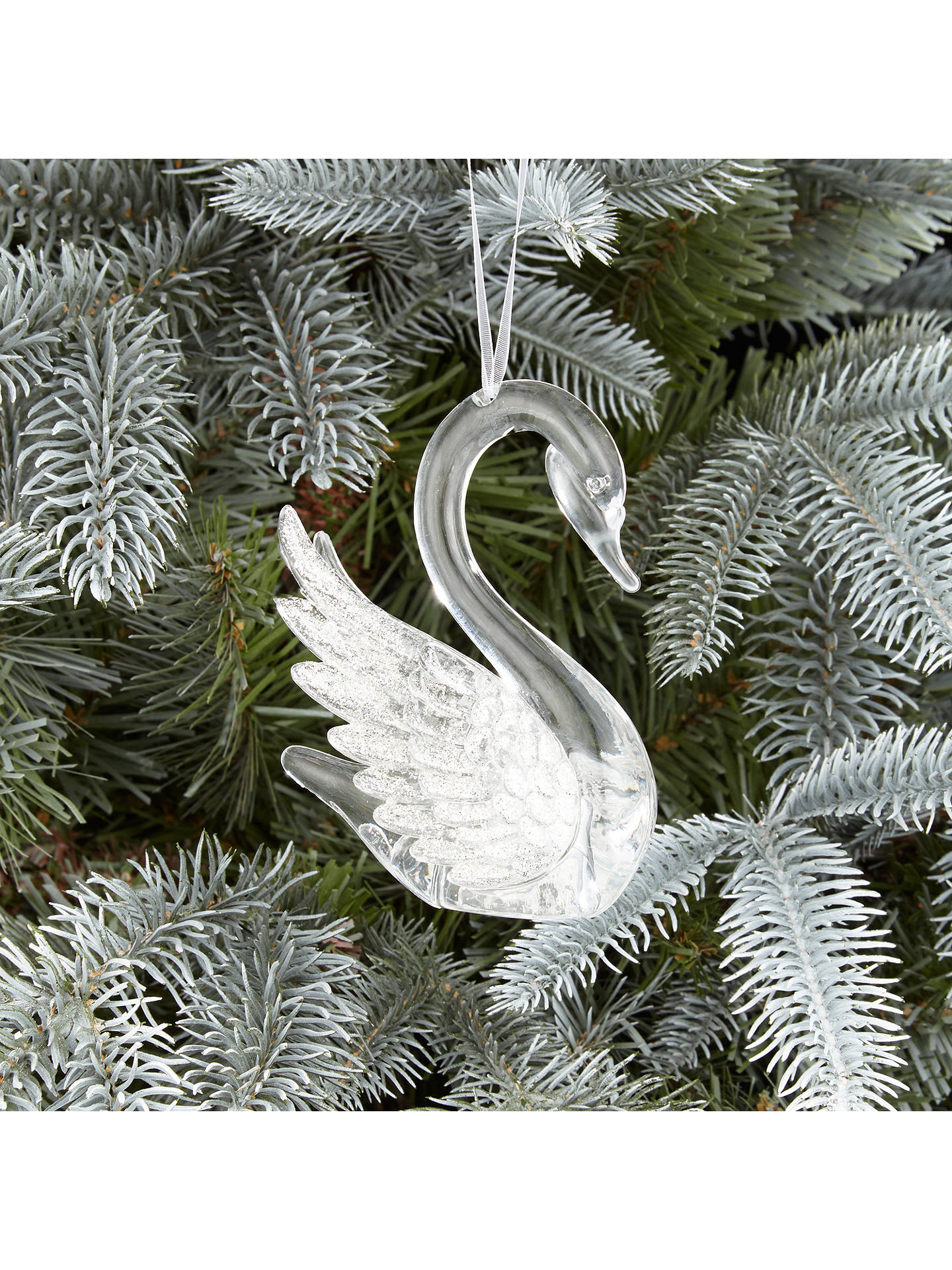 John Lewis Christmas Tree Decorations.John Lewis Winter Palace Acrylic Swan Tree Decoration At