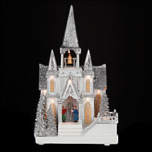 Buy John Lewis LED Frosty Christmas Church Online at johnlewis.com
