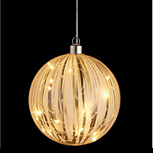 Buy John Lewis LED Lit Bauble Online at johnlewis.com