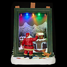 Buy John Lewis LED Santa and Easel Ornament Online at johnlewis.com