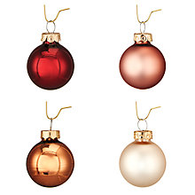 Buy John Lewis Highland Myths Classic Mini Glass Baubles, Tube of 28 Online at johnlewis.com