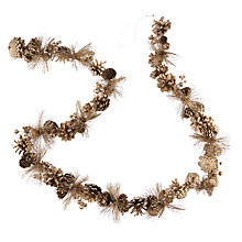 Buy John Lewis Winter Palace Pine Cone Garland, L180cm, Champagne Online at johnlewis.com