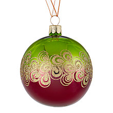 Buy John Lewis Into the Woods Bubble Swirl Bauble, Green / Purple Online at johnlewis.com