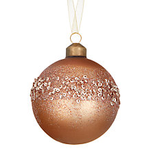 Buy John Lewis Highland Myths Glittered Band Bauble, Bronze Online at johnlewis.com