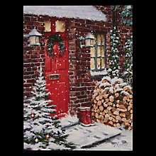 Buy John Lewis Snowy Front Door LED Lit Canvas Online at johnlewis.com